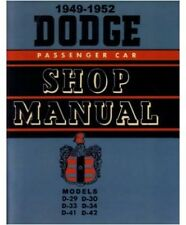 Factory Shop - Service Manual for 1949-1952 Dodge Passenger Cars
