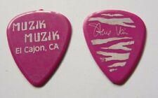 Steve Vai Alcatraz 1980'S Era Muzik Muzik Tour Issued Guitar Pick Purple