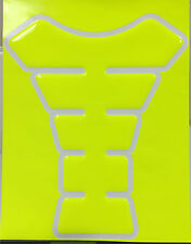 Neon Yellow Motorcycle Sportbike 3D Gel Gas tank pad tankpad protector Decal