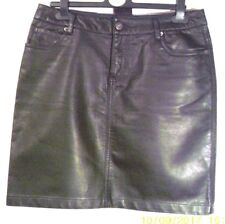 REDOUTE Black Faux Leather PU MINI Pencil SKIRT M uk10eu36us6 Waist w31ins w79cm