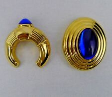 Boucheron Parfums Brooch And Pendant Jaipur Solid Perfume Gold Tone Blue Gems