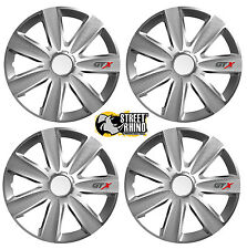 "Toyota Yaris 15"" Universal GTX Wheel Cover Hub Caps x4"