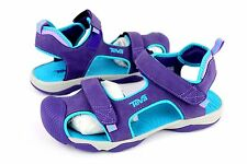 TEVA TOACHI 4 JUNIORS SPORT SANDALS PURPLE / SCUBA BLUE SIZE 5 US