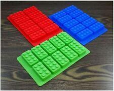 Pralinenform Silicon 10er Schokolade Eiswürfel Konfekt LegoStein Kinder rot