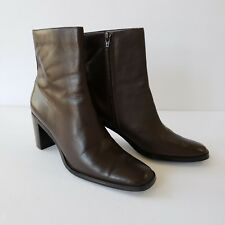 Worthington Womens Ankle Boots 6.5 M Brown Zip Up