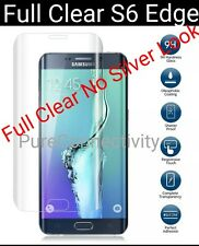 FULL CURVED 3D TEMPERED GLASS SCREEN FOR SAMSUNG GALAXY S6 EDGE CLEAR AS SHOWN