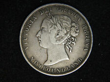 1882-H Newfoundland 50 Cents - Young Victoria - VF