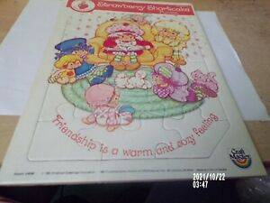 Vintage Strawberry Shortcake Tray Puzzle From 1981 New
