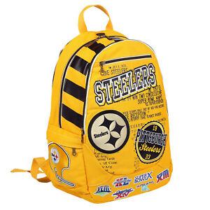 NFL Pittsburgh Steelers Historical Backpack Bag Football