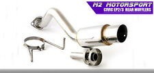 HONDA CIVIC SPORT 1.6 EP2 REAR BACK BOX EXHAUST JDM JAP SLASH ANGLED M2 Z2194
