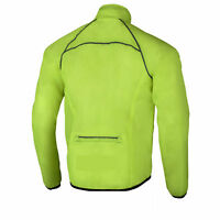 Mens Cycling Jacket High Visibility Waterproof Running Top Rain Coat Hi Viz