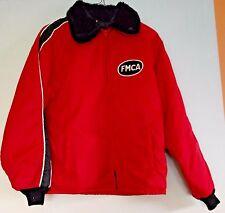 1970s Fmca Vintage Horizon Nylon Lined Mens Coat Jacket Faux Fur Rv Lined Usa