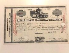 1949 LITTLE MIAMI RAILROAD STOCK CERTIFICATE