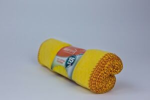 Pack Of 15 Duster Cloth Multi Purpose Cleaning Drying Cloth Wash Towel Yellow