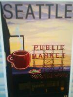 BEAUTIFUL POST CARD PUBLIC MARKET  SEATTLE WASHINGTON