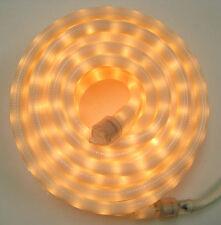 """White Rope Light 30Ft 110V 120V 2-Wire 1/2"""" Incandescent Bulbs Flexilight"""