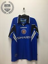 Manchester United third 3rd football shirt 1996/1997 Men's Large