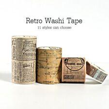 Retro Washi Tape set Vintage Decoration stickers decorada whasi journal bullet