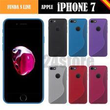 "Funda gel Sline Apple IPHONE 7 4.7"" + protector cristal + lapiz + mem opcional"