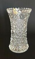 Vintage Oberglas Vase Pressed Cut Crystal Vase Original Label