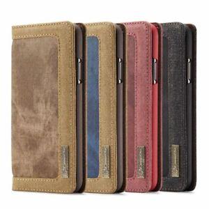 Für Samsung Galaxy Jeans Schutzhülle Handytasche Flip Case Cover Leder Synthetik