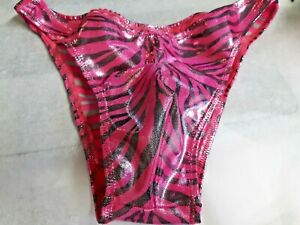 Mens Swimsuit Tiger Rio Full or thong S M L or XL Handmade pink swimwear USA