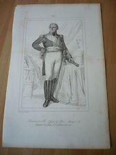 DUC DE COIGNY MARIE FRANCOIS HENRI DE F MARECHAL DE FRANCE  EN 1813  GRAVURE 19°