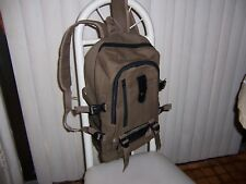 2 Bags New Men's Women's Canvas Backpack Brown College Laptop Hiking 2 Bag Lot
