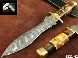HANDMADE 11.9''  ACID ETCH STAINLESS STEEL HUNTING DAGGER KNIFE (4821-42