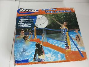 """Banzai Super Size Pool Water Sports Pool Volleyball Net Open Box Inflatable 102"""""""