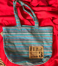 FEED Guatemala tribal woven knit cotton tote bag satchel free people gym work