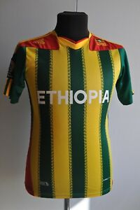 Adidas Ethiopia Embroidered Football Jersey Africa Cup 2013 Soccer Jersey Rare