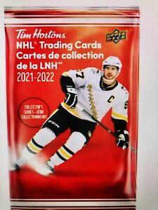 2021-22 TIM HORTONS HOCKEY CARDS 10 SEALED NEW UNOPENED PACKS RELICS?GRETZKY? ?