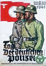 German WW2 Day of the Police Polizei Waffen SS Officer large Poster