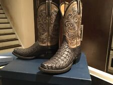 LUCCHESE *NEW* COLLECTIONS LIMITED EDITION HORNBACK CROCODILE boots  M/9D