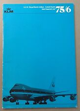 KLM ROYAL DUTCH AIRLINES ANNUAL REPORT 1975-76 ENGLISH LANGUAGE ROUTE MAP