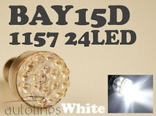 2x BAY15D 1157 24 LED 12V WHITE Car Brake Turn Stop Light Lamp Bulb Globes Bulbs