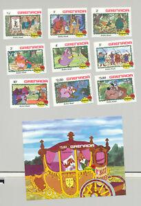 Grenada #1127-1136 Christmas, Disney, Robin Hood 9v & 1v S/S Imperf Proofs