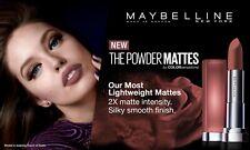 MAYBELLINE Colorsensational Powder Matte Lipstick CHOOSE YOUR COLOUR New