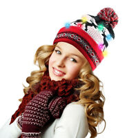 Light Up Hat With 10 Colorful Lights Beanie Knit Cap for Party Christmas Gifts