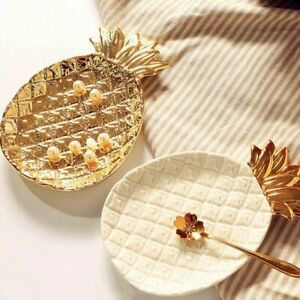 Ceramic Gold Pineapple Storage Tray Jewelry Pallet Food Pallet Dry Fruit Plates