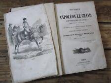 RARE HISTOIRE NAPOLEON GRAND EMPEREUR NAISSANCE ST HELENE DEPOUILLE 1849 PLANCHE