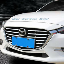 New 1 Set 12pcs Chrome Front Grille Cover Trim for Mazda 3 M3 Axela 2017 2018