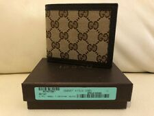 3f75302c30e72 Gucci Double G Logo Guccisima Canvas Mens Wallet Brown Beige NEW
