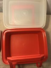 Tupperware Pack & Carry  Lunch Tote Container 9 Pieces 1254 Paprika/Orange