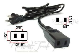8ft AC Power Cord for Chinon Super 8 Model 2500GL 3000GL Dual 8mm Film Projector