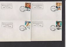 BAT 1973 Definitives 14 stamps on individual covers Not FDC Base H cachet Signy