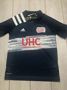 New Adidas Youth New England Revolution Soccer Jersey Size Medium Navy White