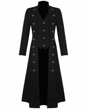 Women's Cotton Twill Steampunk Jacket Goth Victorian/Military Style Trench Coat