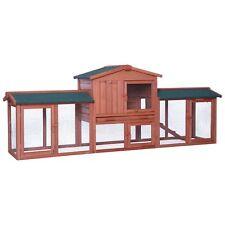 dibea, XXXL Kaninchenstall, Premium Stall, 223 x 52 x 85 cm, Holz